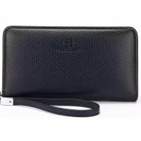 FEIDIKABOLO Dompet Pria Long Zipper Wallet - 009 (OEM) - Dark Blue