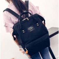 Anello Tas Ransel Canvas Vintage (OEM) - Black