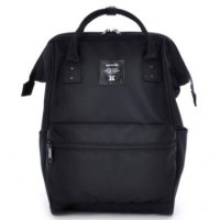 Anello Limited Edition All Black Tas Ransel Canvas Size L - Black