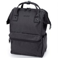 Anello Tas Ransel Kanvas Frosted - Large - Black