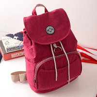 Jinqiaoer Tas Ransel Kasual Nylon - Red