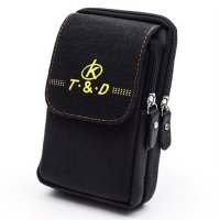 Tas Pinggang Canvas Pocket Bag - Black