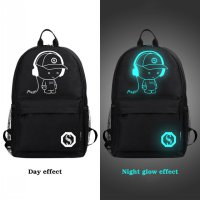 Tas Ransel Oxford Glow in The Dark - Model Music Kid - Black