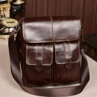 Contacts Tas Selempang Pria Retro - Brown