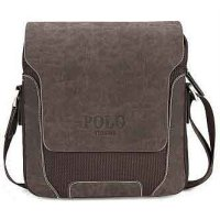 POLO Tas Selempang Pria Model Vertical Small - Brown