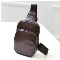 Tas Selempang Kasual Bahan PU Leather - Brown