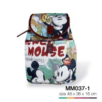 Tas backpack kulit karpet mickey mouse MM037-1 SJ0034