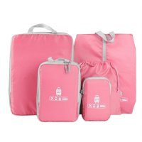 BUBM Tas Travel Bag in Bag Organizer 5 in 1 - T5JTX - Pink