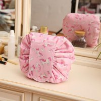Tas Kosmetik Travel Pouch Drawstring Unicorn - Pink