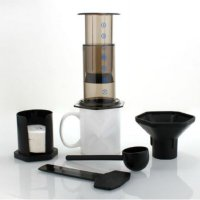 Portable French Press Coffee Maker - Brown