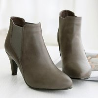 [Pink elephant] Ankle boots with keeper banding (7cm) Korean fashion style