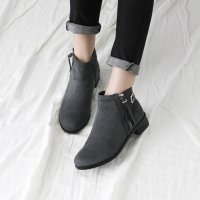 [Sovo Shoes] Shoes platform shoes Ankle boots 7FBA3257 Korean fashion style