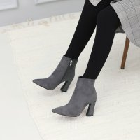 Chic Suede Ankle Boots 7CKLF09_173