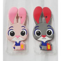Back Cover Oppo F1s Softcase Transparan Silicon 3D Bunny Casing Hp Grey Abu-Abu
