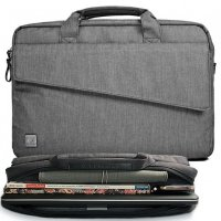 GEARMAX WIWU GM4083 15.4-15.6 Inch Grey Nylon Laptop Shoulder Bag