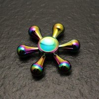 Fidget Hand Spinner Rainbow Stainless Metal Ceramic Hybird Bearing Desk Gyro Toy