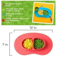 SALE NUBY MIRACLE MAT SECTION SILICONE PLATE (PIRING MAKAN BAYI NEMPEL MEJA