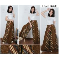 Cj collection Celana kulot batik panjang wanita jumbo long pant Dewanti