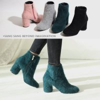 [More than Imagine] Angora Booty Hill (PL6130) Winter Bootie Ankle Boots korean fashion style