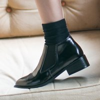 [More than Imagine] Simple Short Flat Walker (LH7083) Ankle Boots Short Boots Chelsea Boots Booty korean fashion style