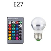 Lampu Bohlam LED RGB 3W 16 Colors with Remote Control - E27