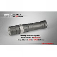 JETBeam RRT-0 Senter LED CREE XM-L2 650 Lumens - Black