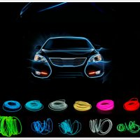 Lampu Interior Mobil LED Neon RGB 3 Meter with 12V Inverter - Blue