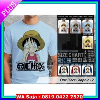 Kaos Anime : Doraemon, One Piece, Samurai X dan Avatar Kaos One Piece Graphic 12 Luffy Ngupil