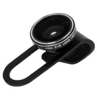 Clip Fisheye Lens 180 Degree for iPhone 5 - Black