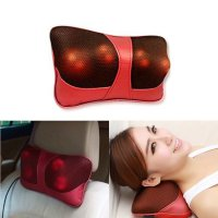 Bantal Pijat Shiatsu Car Heat Neck Massage Pillow - Red