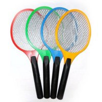 [globalbuy] 1pcs Rechargeable Electric Insect Bug Bat Wasp Mosquito Zapper Swatter Racket /916236