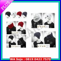 [Murah] Topi Kupluk Distro Uyuk Pria Fashion Korea Lee Min Ho Multifungsi 2IN1
