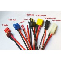 [Gold Product] 8 In 1 XT60 JST TRX Futaba EC3 Tamiya T Plug Battery Charging Cable