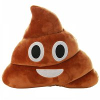 Bantal Kursi Smile Emoji Poop 21 CM - Brown