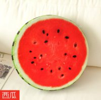 Bantal Kursi Sofa 3D Model Buah - Watermelon Red