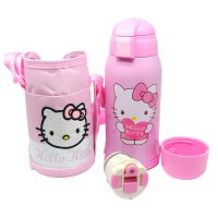 Botol Thermos Doraemon Hello Kitty Stainless Steel 600ML - Pink