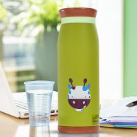 Colourful Cute Cartoon Thermos Insulated Mik Water Bottle 500ml - Green
