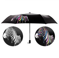 Payung Lipat Color Changing Zebra - Black