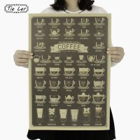 Poster Dinding Dekorasi Bar Coffee Cafe - Brown