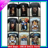Spandex Kaos 3D Anime ( Naruto, One Piece, Conan, Dragon Ball, DLL )