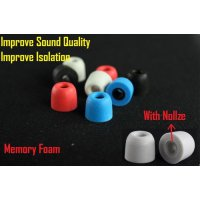 Earphone Memory Foam Tips With Nozzle Replacement IEM Eartips Sponge