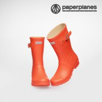 [Paperplanes] 2016 NEW Womens Waterproof Rubber Rain Boots Colorful/PP1193-1(Middle) Flame