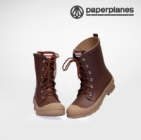 [Paperplanes] 2016 NEW Womens Waterproof Rubber Rain Boots Colorful/PP1320 Brown