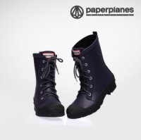 [Paperplanes] 2016 NEW Womens Waterproof Rubber Rain Boots Colorful/PP1320 Navy