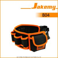 Jakemy Synthetic Leather Tool Storage Waist Bag with Strap - JM-B04