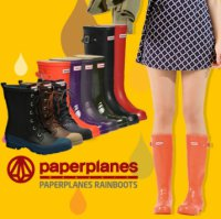 [Paperplanes] 2016 NEW Womens Waterproof Rubber Rain Boots Colorful/PP1193-1 Black/Navy/Red/Choco/D