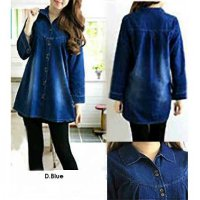 [KEMEJA] KEMEJA DENIM QUEEN JUMBO HIGH QUALITY