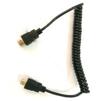 High Speed HDMI to HDMI Coil Cable Gold Plated 1.5M - Black