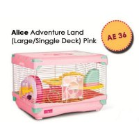 (High Quality) Kandang Hamster / Adventure Land For Hamster Single Deck AE36