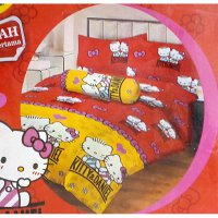 Sprei Lady Rose Uk.180 X 200 Motif Hello Kitty and Daniel Red